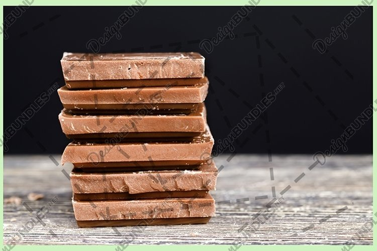 chocolate on a wooden table example image 1