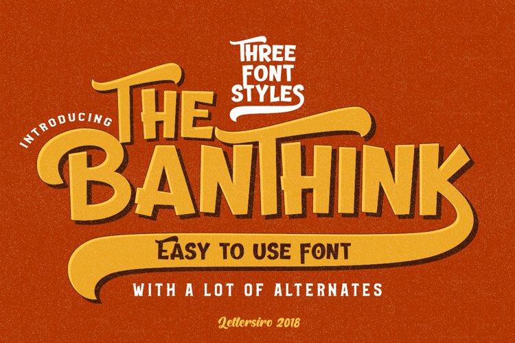 The Banthink - Retro Font example image 1