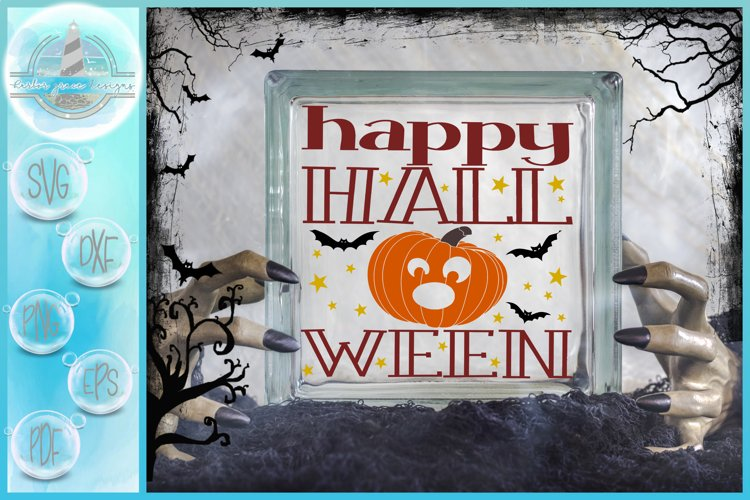 Happy Halloween Glass Block SVG | A Halloween SVG example image 1