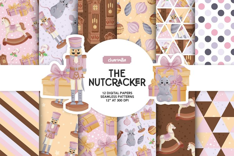 The Nutcracker Digital Papers example image 1