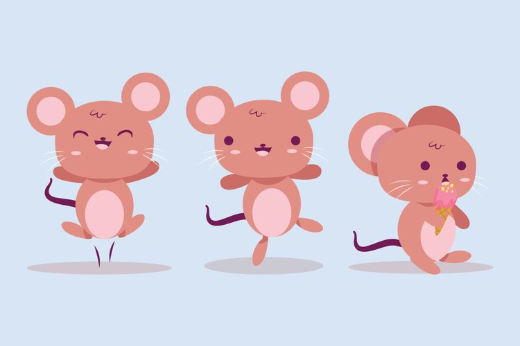 Cute Mouse Illustrations