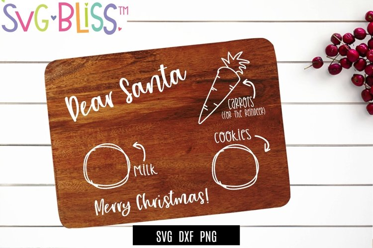 Cookies For Santa Board SVG Cut File- Christmas Holiday SVG example image 1