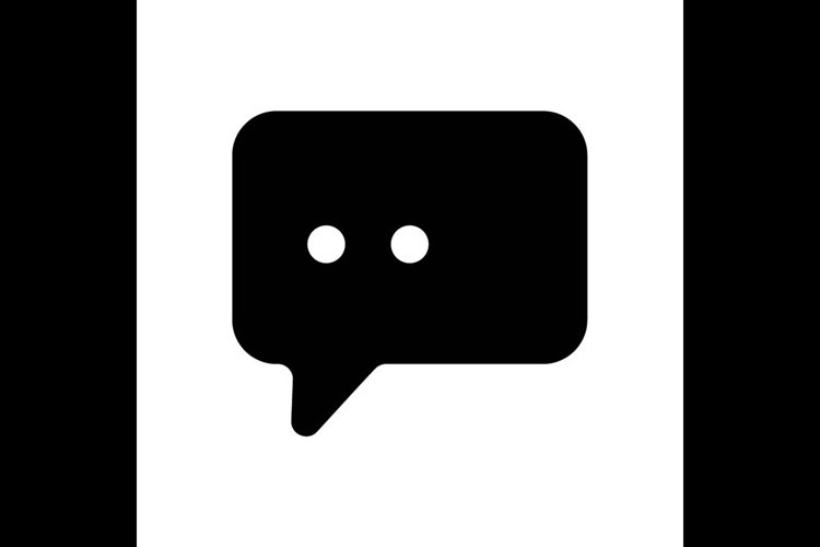 bubble chat symbol line icon, Vector Illustration example image 1