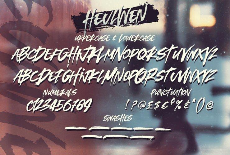 Heulwen Typeface example 7