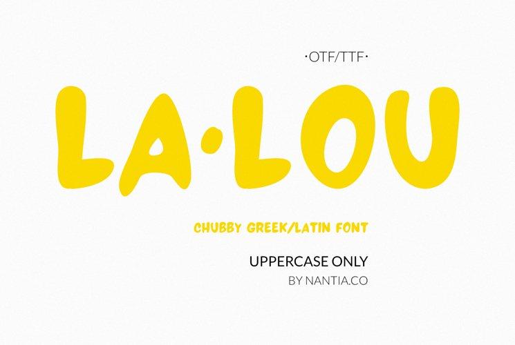 LALOU Greek Latin Chubby Font example image 1