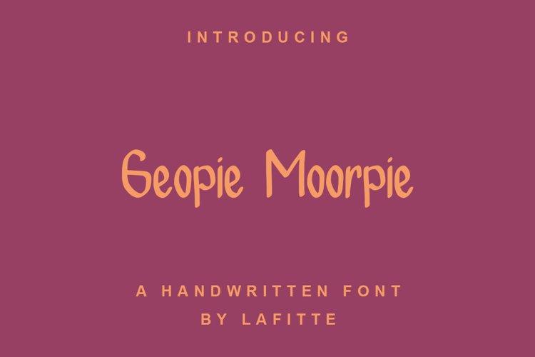 Geopie Moorpie example image 1