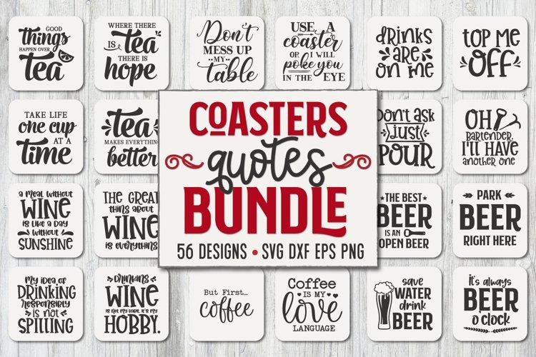 Coaster Bundle, Wine Svg, Coffee Svg, Beer Svg, Whiskey Svg