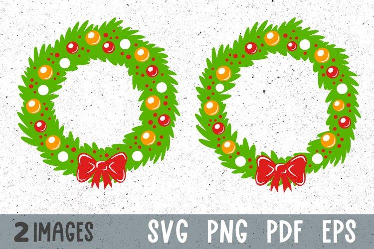 Christmas wreath svg Christmas svg files Christmas clipart example image 1