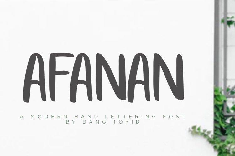 AFANAN - Handmade Font example image 1
