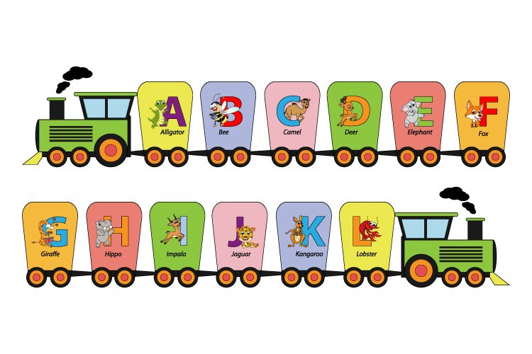 train with alphabet letters example image 1