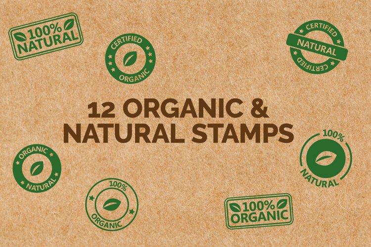 Natural & Organic Stamp Icons