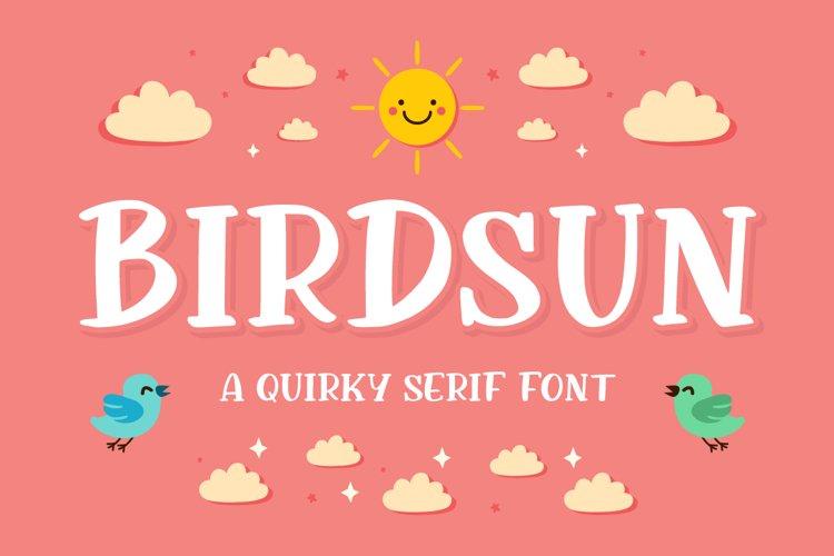 Birdsun - Playful Font example image 1