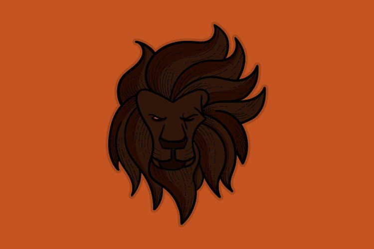 lion esports logo for your team game, squad game logo example image 1