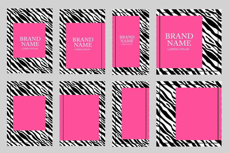 Fashionable Luxury Zebra pattern cover design collection