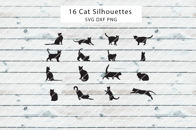 Cats Silhouettes SVG