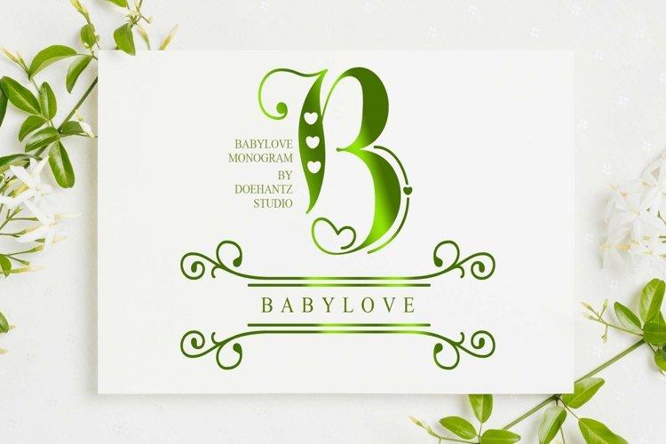 Babylove Monogram example image 1