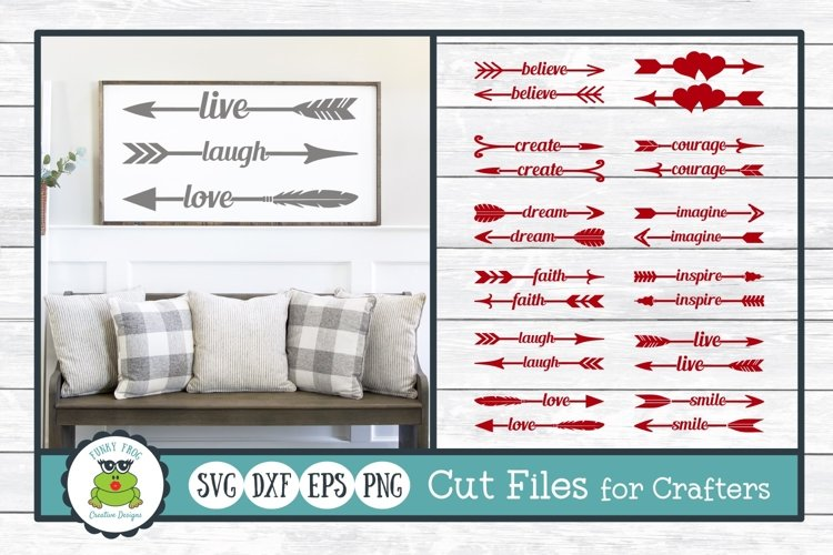 Word Arrows Bundle, Valentine SVG Cut Files for Crafters