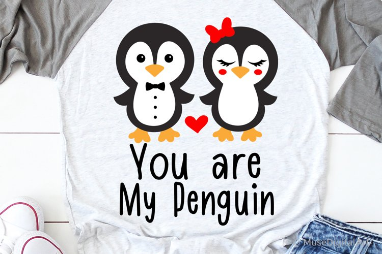You Are My Penguin Svg, Valentines Day Svg, Kids Valentines example image 1