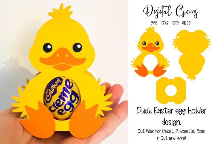 Duck Easter egg holder design SVG / DXF / EPS files example image 1