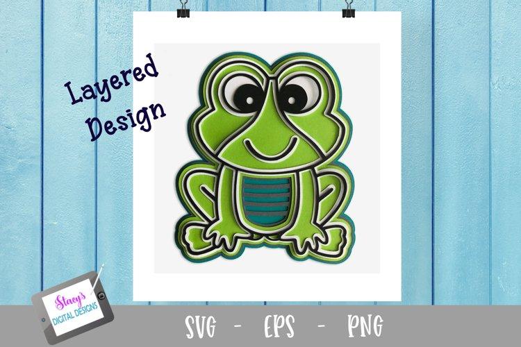 3D Layered Frog SVG Design - Free Design of The Week Design3