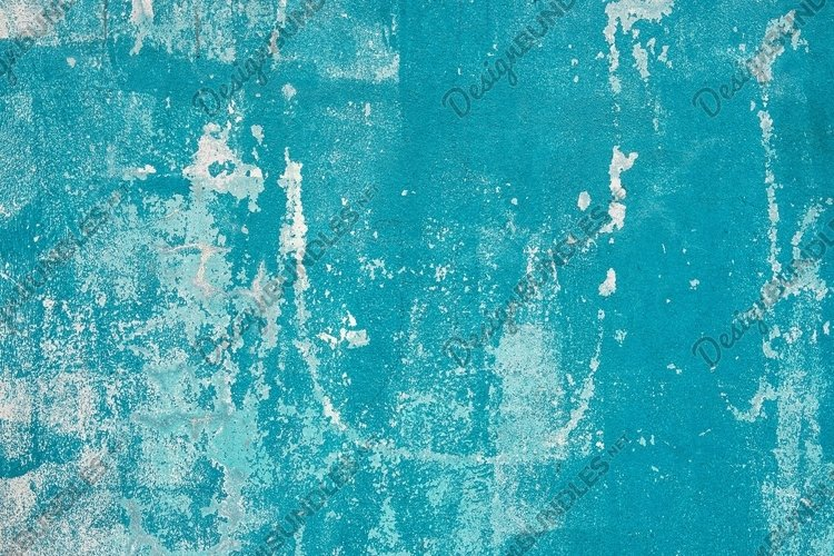 Turquoise blue wall texture. Grungy distressed background example image 1