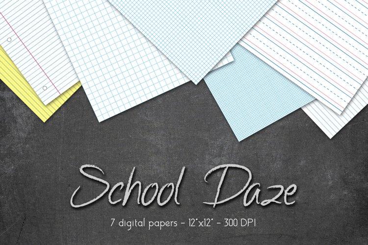 School Digital Paper Set example image 1