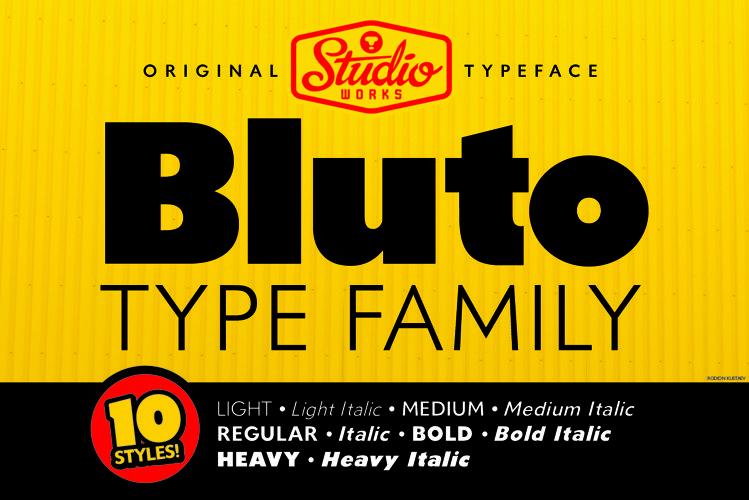Bluto | Sans Serif Type Family