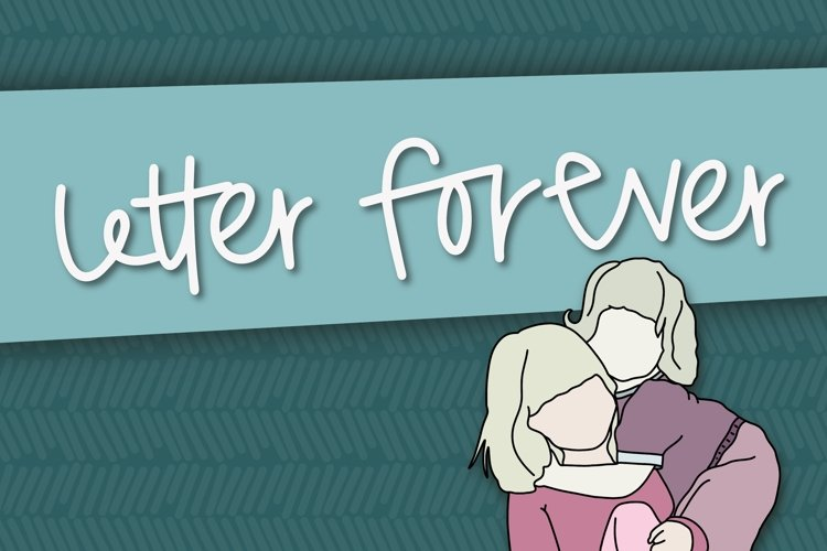 Letter Forever a Hand Lettered Font example image 1