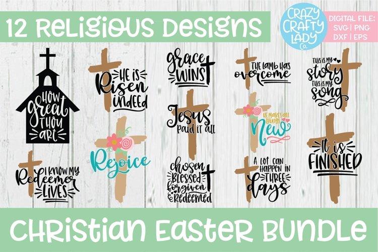 Christian Easter SVG DXF EPS PNG Cut File Bundle