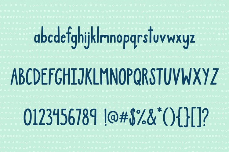 Jamberry Font example 7