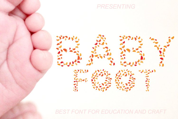 Baby Foot - A Foot Steps Font for You example image 1