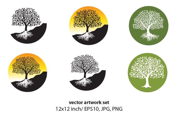 FRUIT TREE- VECTOR ARTWORK SET example image 1