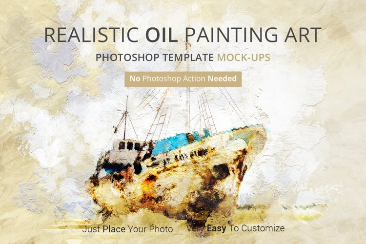 Oil Painting Art Photoshop Mock-ups example image 1