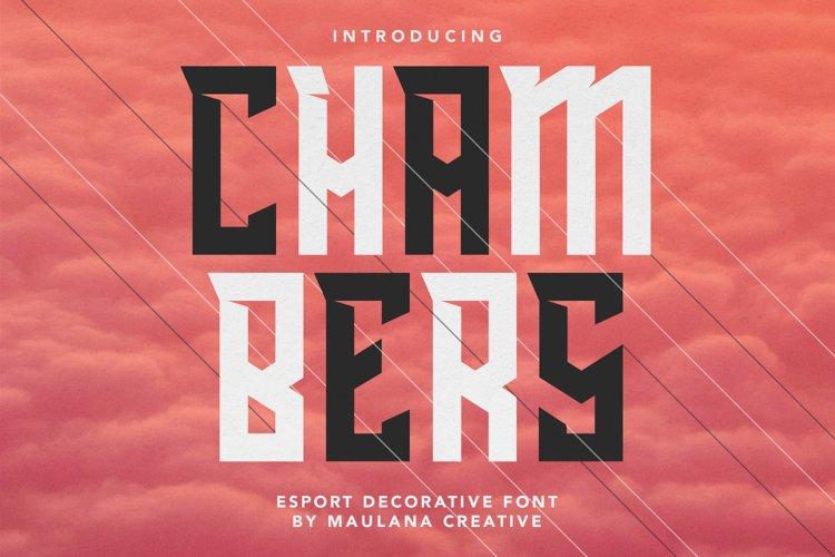 Chambers Esport Decorative Font example image 1