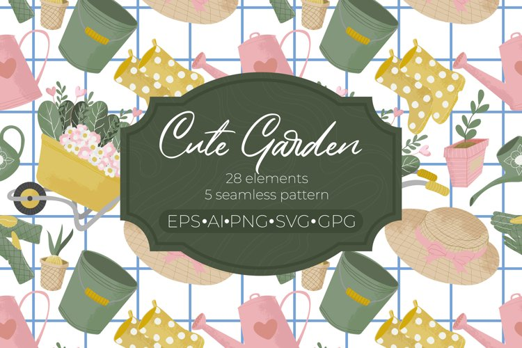 Cute garden collection - EPS/AI/SVG/PNG/JPG