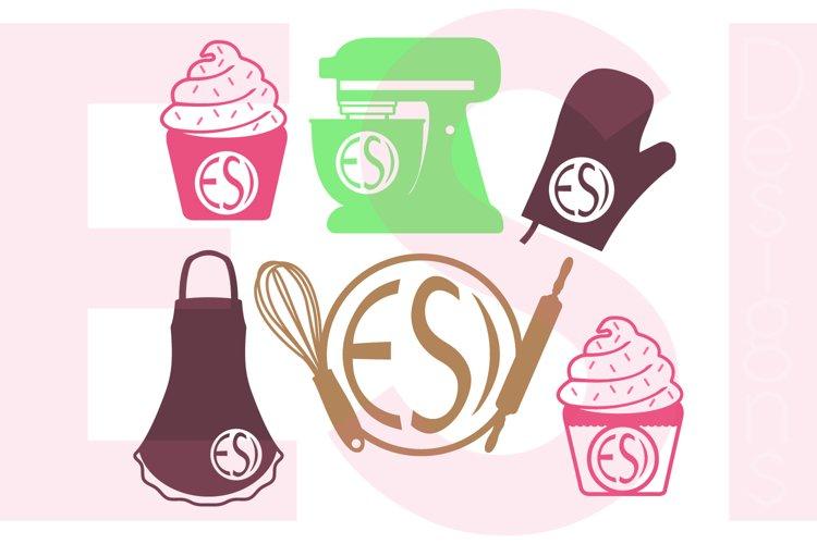 Baking Monogram Designs Set example image 1