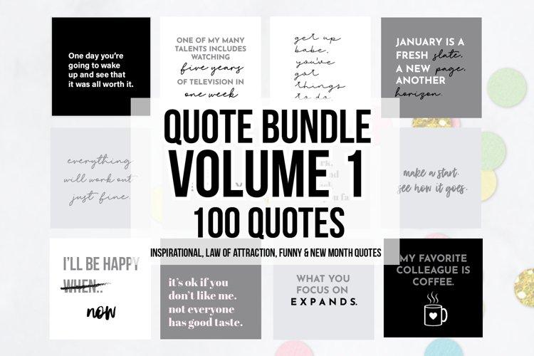 100 x Grey Social Media Quotes Bundle