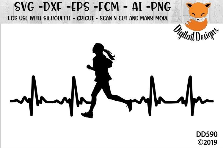Female Runner EKG SVG example image 1