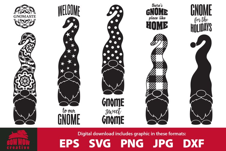 BEST SELLER Gnome Porch Sign SVG Cutting File Bundle