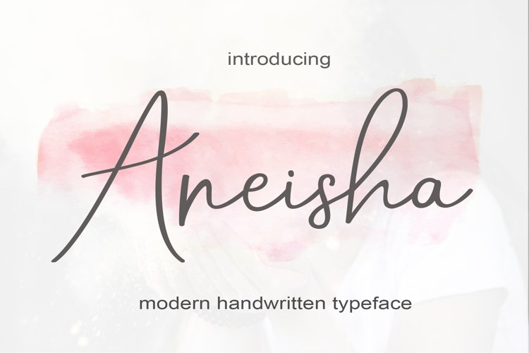 Aneisha Script | WEB FONT