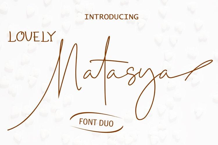 Lovely Natasya - Duo font example image 1