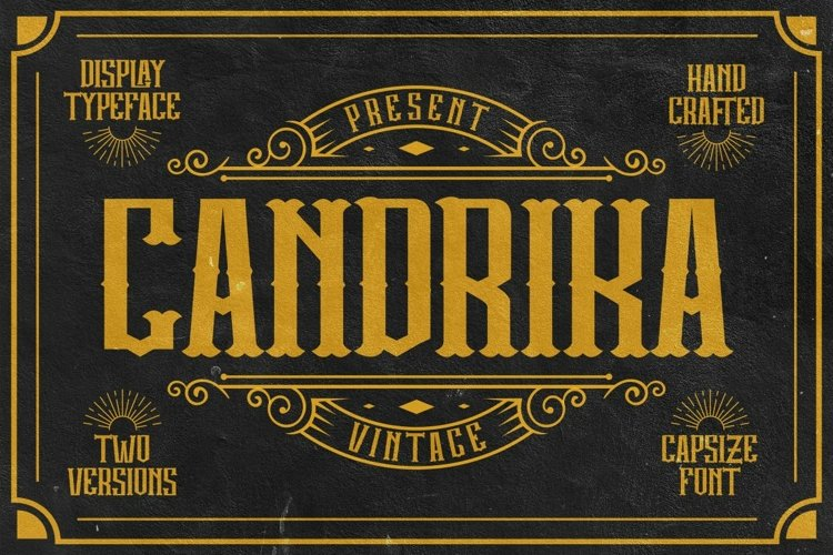 Candrika - Vintage Label Display Typeface example image 1