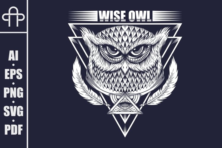 Wise Owl vector illustration
