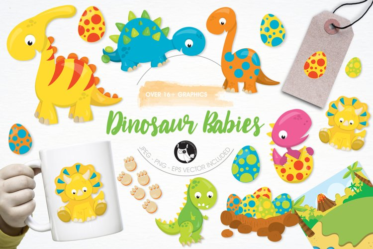 Dinosaur Babies graphics and illustrations - Free Design of The Week Font