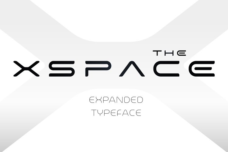 X-Space Font example image 1