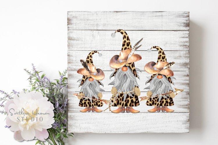 COWBOY LEOPARD GNOMES - PNG