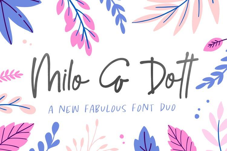 Milo & Dott Font Duo example image 1