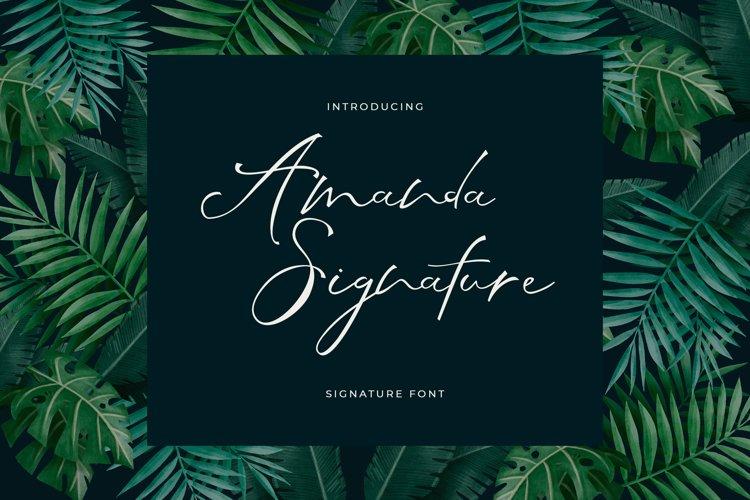 Amanda Signature Font example image 1