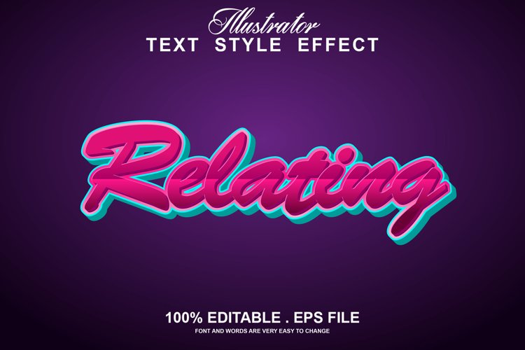relating text effect editable