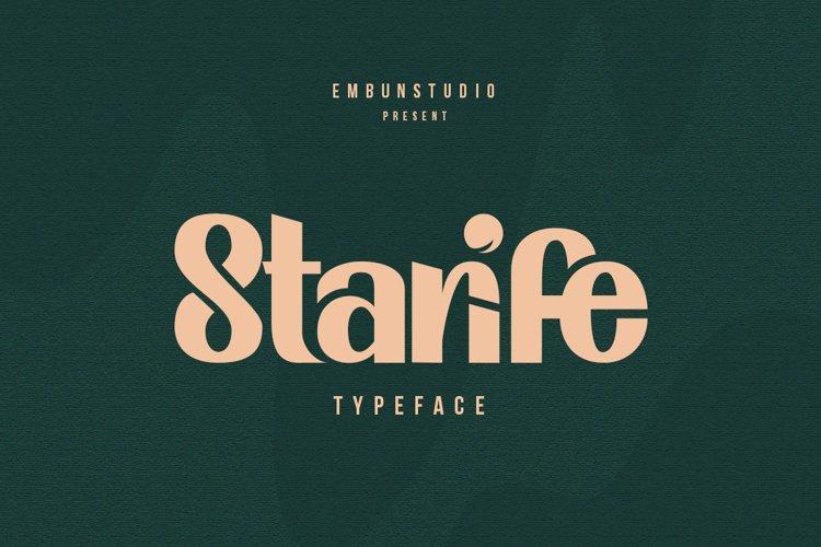 Starife Typeface example image 1